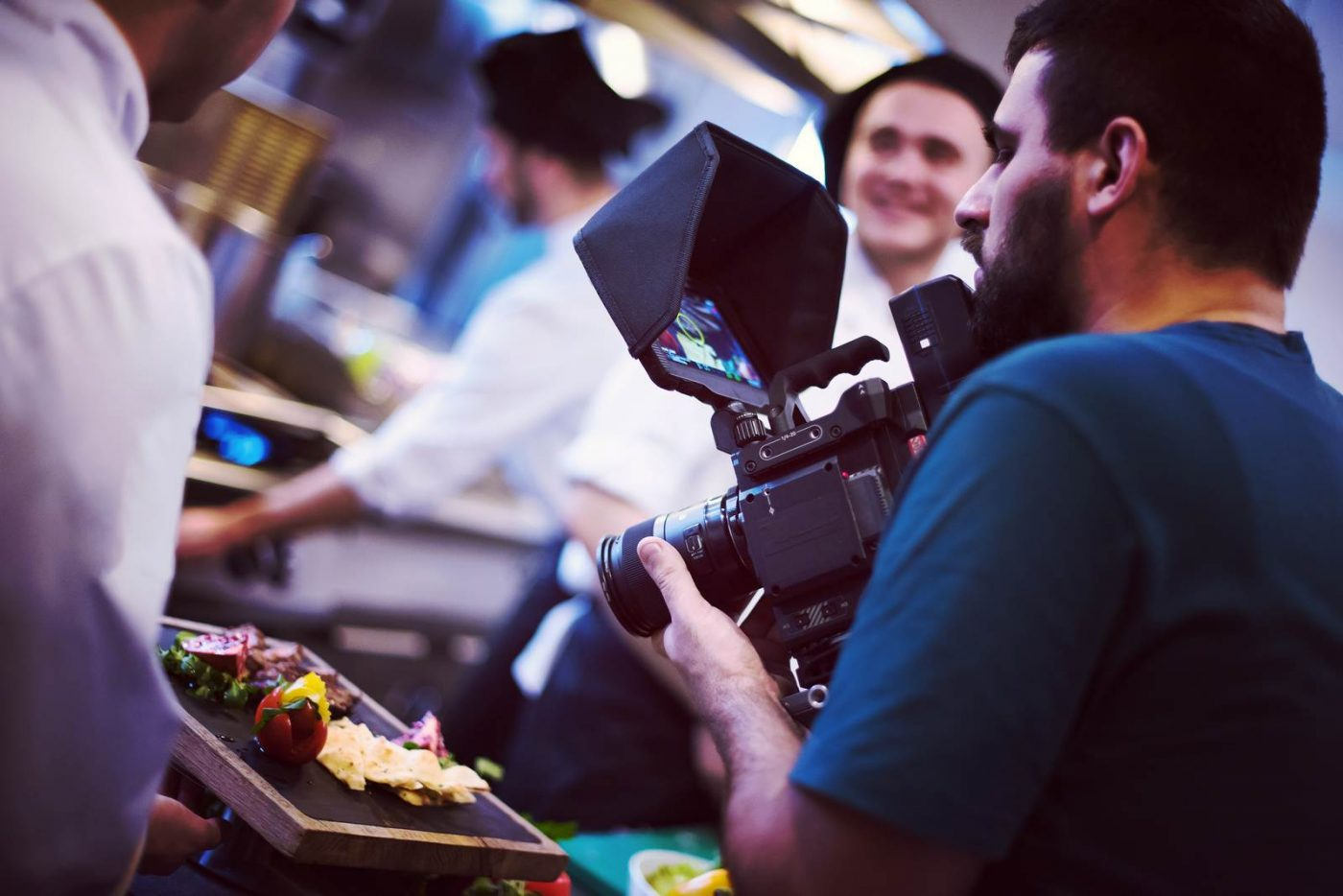 commercial videography team shoots video in Boise